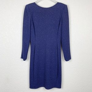 Vintage Caché Navy Glittery Long-Sleeved Dress 6
